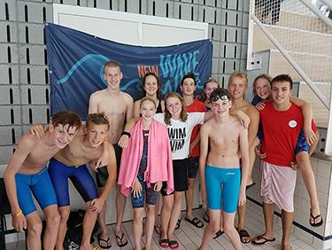 de zwemmers van de 1e wedstrijd van New Wave Almere