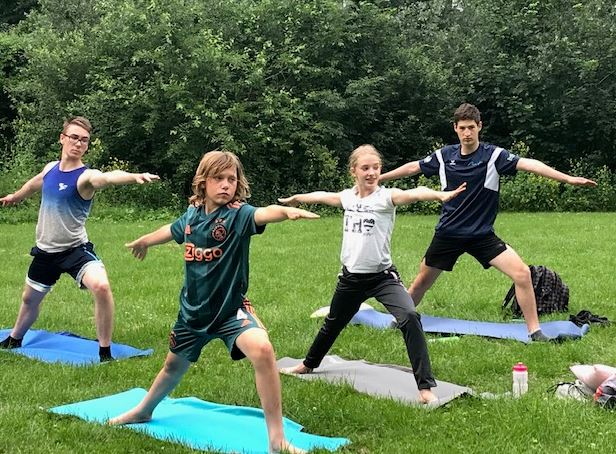 yoga bij de Kemphaan
